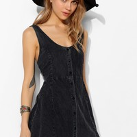 Motel Delta Button-Front Fit + Flare Dress - Urban Outfitters