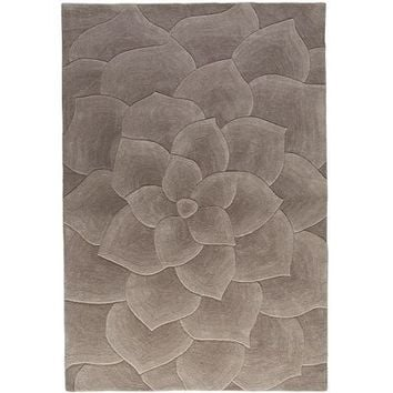 Rose Tufted Gray Rug