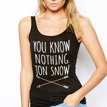 Winter Is Coming Tank Tops Women You Know Nothing Jon Snow Cotton Sleeveless Shirt Woman Tanks  Womens Top