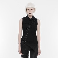 The Scar Slash Sleeveless Drape Top
