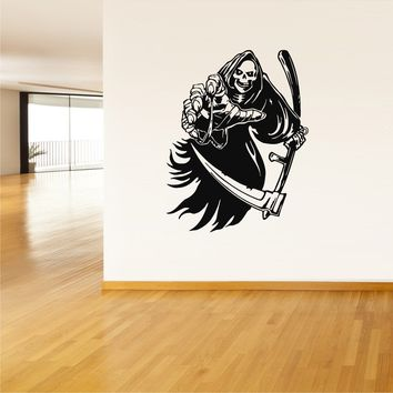 Wall Vinyl Decal Sticker Decals Kids Grim Reaper Death  z40