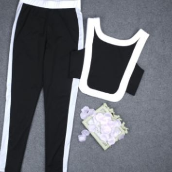 Black & White track jumpsuit