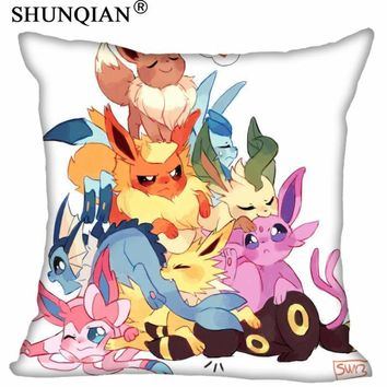 Best  Eevee Pillowcase Wedding Decorative PillowCover Custom Gift For (Two Sides) Printed Pillow Cases A9.30Kawaii Pokemon go  AT_89_9