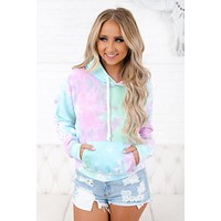 While You're Young Tie Dye Hoodie (Seafoam/Pink)