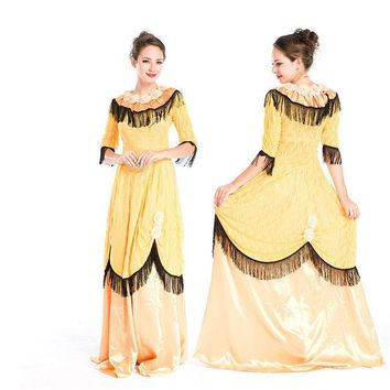 LMFON On Sale Hot Deal Princess Costume Palace Halloween Party Cosplay Custome [8978957191]