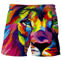 Colorful Lion Swim Trunks
