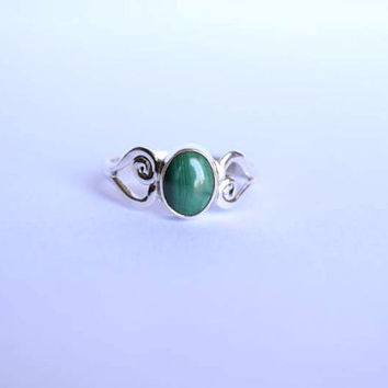stone ring, Melachite ring, silver ring,  silver Melachite ring, melachite stone ring, stone ring,  Natural Melachite Silver Ring,RNSLML3
