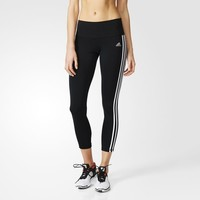 adidas Performer Three-Quarter 3-Stripes Tights - Black | adidas US