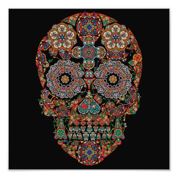 Flower Sugar Skull Photo Print
