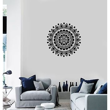 Vinyl Wall Decal Mandala Bedroom Living Room Yoga Meditation Interior Stickers Mural (ig5987)