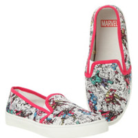 Marvel Heroes Comic Slip-On Sneakers