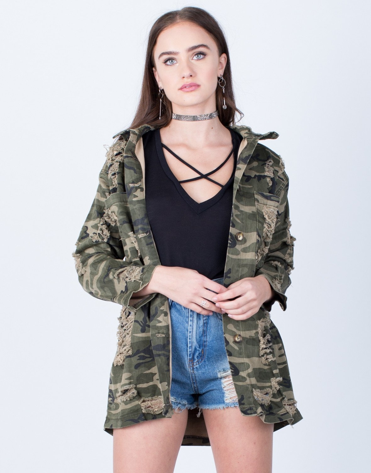 b39c2d900246 Destroyed Oversized Camo Jacket from 2020AVE