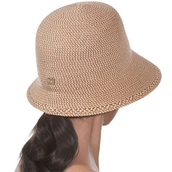 Eric Javits Women's Hat Luxury Headwear Squishee Bucket Fedora Peanut