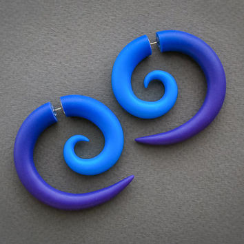 Spiral Gauges, Fake Gauge Earrings, Ear Gauges, Spiral Plugs, Tribal Gauges, Ear Tapers, Fake Plugs, Faux Gauges, Ear Plugs