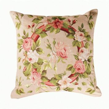 Bunch of Flowers 1 French Cushion