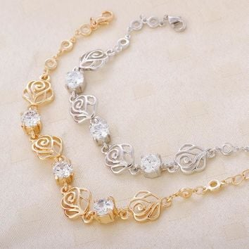 Shiny Awesome New Arrival Gift Great Deal Hot Sale Stylish Crystal Accessory Hollow Out Korean Bracelet [10412428244]