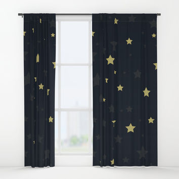 Stars II Window Curtains by printapix