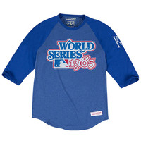 Mitchell and Ness Kansas City Royals Mens Raglan Fashion - Royal
