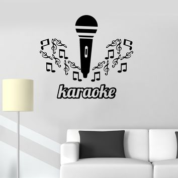 Vinyl Decal Karaoke Microphone Music Singing Decor Wall Stickers Unique Gift (ig2629)