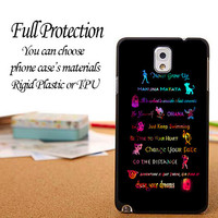iPhone, Galaxy, and Xperia Disney Lessons Learned Mash Up Case iPhone 6 / 5c / 5/5s / 4/4s, Galaxy S6, S5, S4, S3, Xperia Z,Z1,Z2 cases