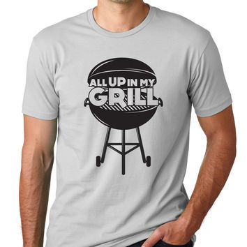 All Up In My Grill Crewneck Tee