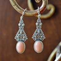 Peachy Keen Earrings | Indie Retro Vintage Inspired Earrings| Poetrie
