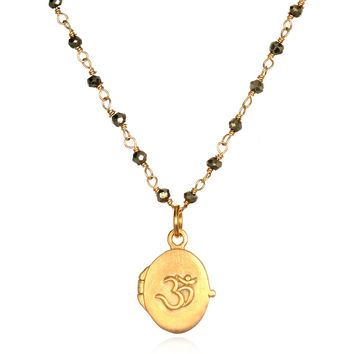 Infinite Connection Gold Locket Necklace