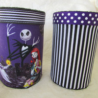 Jack and Sally Nightmare Before Christmas Pencil Holder Organizer Set