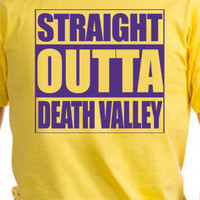 Straight Outta Death Valley LSU Football Fan T-Shirt