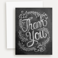 Floral Thank You - A2 Note Card