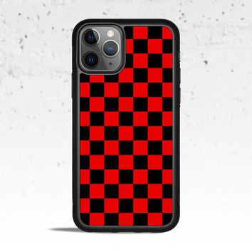 Checkerboard Red & Black Phone Case Cover for Apple iPhone Samsung Galaxy S & Note