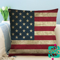 US Dirty Flag Zippered Pillow Case, Cushion Case, Pillow case