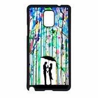 Love Song Romantic In The Rain Paint Samsung Galaxy Note 4 Case