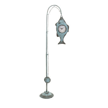 Ackland Hanging Fish and Pole Floor Clock