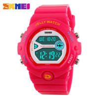 Fashion Skmei Luxury Brand Women Sport Watches LED Electronic Digital Watch 50M Waterproof Outdoor Dress Wristwatches 4COLORS