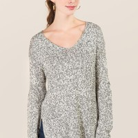 Shary Round Hem Pullover Sweater