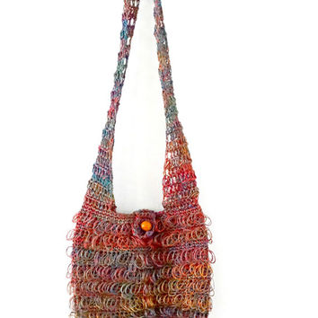 Traditional ethnic Mochila Bag, Colombian Bag made of Fique