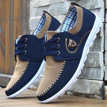 Leopard Head Casual Two-Tone Canvas Shoes