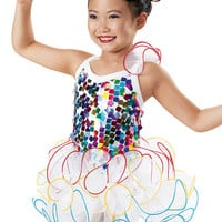Rainbow Sequin Curly Hem Dress -Weissman Costumes