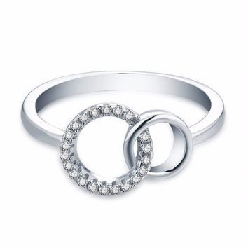 Women's Sterling Silver Circle Ring