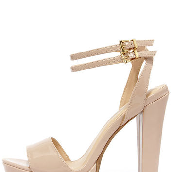 Miss World Natural Patent Platform Heels