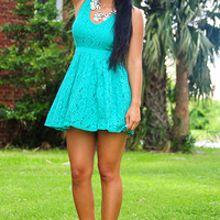 Lacey Days Dress: Tropical Green