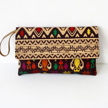 Envelope Clutch, Traditional ikat clutch, Tribal Clutch