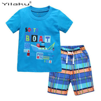 2017 New Kids Clothes Set Summer Casual Boys Clothing Sets Children T-shirt+Short Pants Sport Suit for Boy Outfits CF462