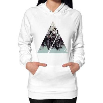 DCCKHD9 Geometric Conversation Hoodie (on woman)
