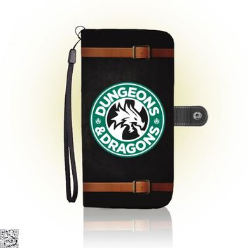 Starbucks Parody Mashup, Dragon And Dungeon Wallet Case