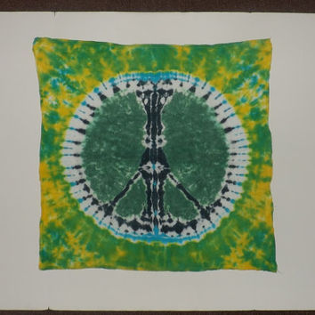 Tie Dye Tapestry - Bold Peace Sign - Choose Any Colors