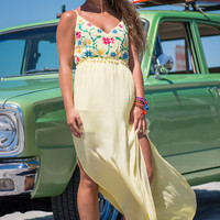 Look Around You Maxi Dress, Yellow