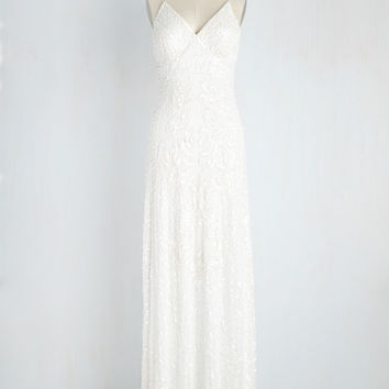 Here's to Glamorous Dress in White | Mod Retro Vintage Dresses | ModCloth.com