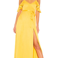 Lovers + Friends Taylor Gown in Golden Rod | REVOLVE